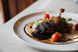duck confit , Roasted Duck leg French food - 218227515