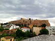 View of the Parthenon, Acropolis in Athens Greece. Visting the Acropolis museum on a cloudy day