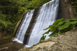 Small waterfall in Romania Carpathians near Vidraru lake - 218253707