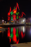 Shipyard at night - 218255192