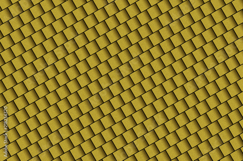 3d yellow gold metallic cubes background - 218256370