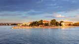 Ancient city of Zadar, Croatia as seen from the sea - 218262969