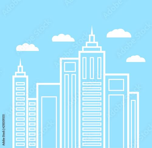 Plakat Flat design urban landscape illustration