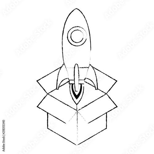 Rocket Start Up In Box