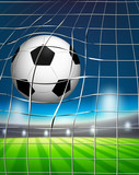 A football at the goal - 218316310