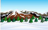 A snow mountain landscape - 218316951