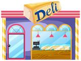 A deli shop on white background - 218316980