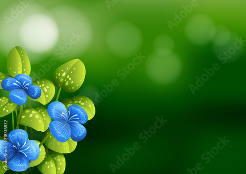 Canvas Kids Beautiful blue flower background