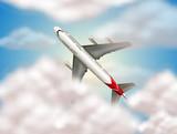 an airplane on sky - 218317128