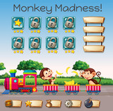 A monkey madness game template - 218317143