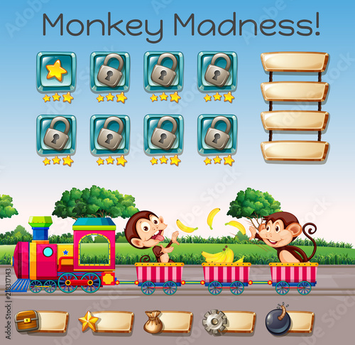 Canvas Kids A monkey madness game template