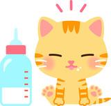 子猫と哺乳瓶