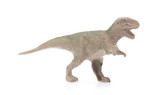 Tyrannosaur Rex made out of plastic. dinosaur toy isolated on white background