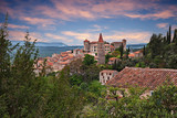 Callian, Var, Provence, France: landscape at dawn of the ancient village