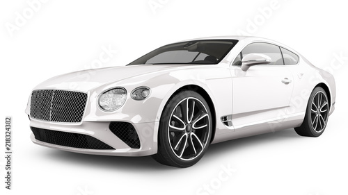 Luxury Sports Car Isolated on White