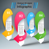 3D infographic design template and marketing icons. - 218326355