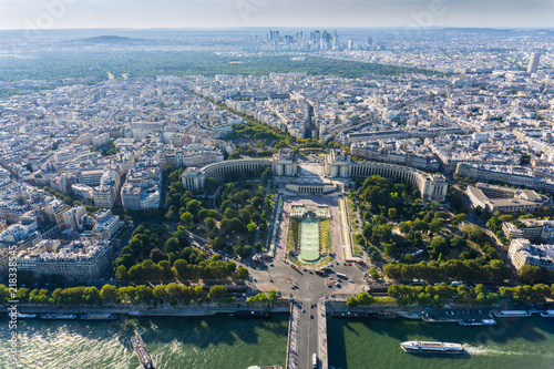 Poster Trocadero aerial, Paris