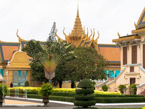 canvas print picture Königspalast Phnom Penh, Kambodscha