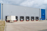 commercial large warehouse exterior - 218357984