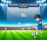 A football player scoreboard template - 218363171