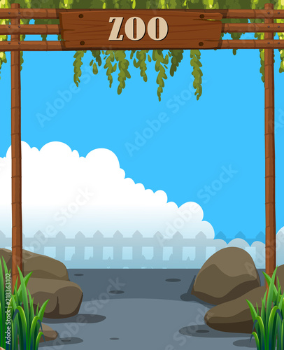 Canvas Kids A beautiful zoo template