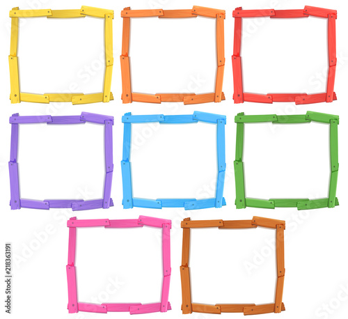 Canvas Kids A set of wooden frame