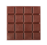 Dark chocolate bar isolated on white background - 218402331