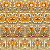 Seamless pattern, background with decorative elements in the sty - 218403149