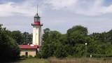 Observation tower. Lighthouse. Blue sky. Antenna,  Panning,Closeup,  - 218405315