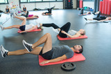 people training in fitness club - 218416958