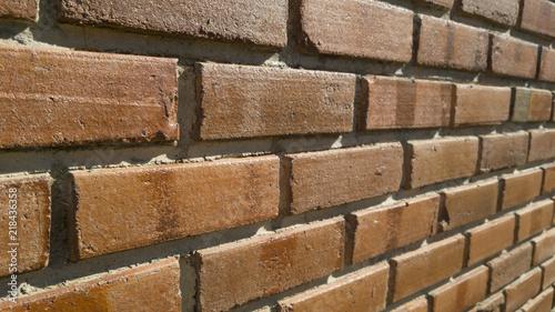 Clic Brick Wall A Rustic Texture Orange Color With Cement Seams Presenting