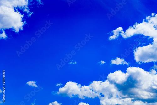 Canvas Donkerblauw japanese autumn blue sky ( No.5725 )