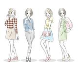 ファッション 女性 バリエーション - 218449525