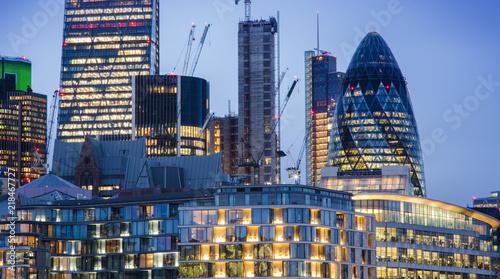 Plexiglas London new modern buildings in London city