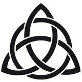 Celtic knot silhouette walltattoo - 218472910