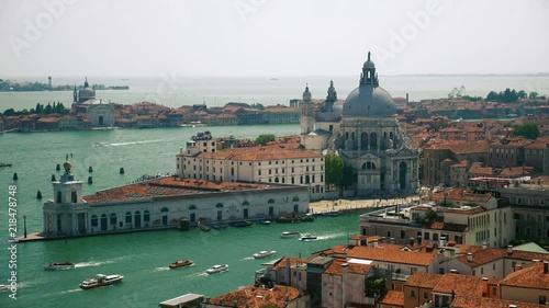 Extrordinarly view of venetian important curch - Saint Mary of Health - Baroque architecture in Venice.