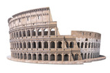 Colosseum, Coliseum isolated on white. Symbol of Rome and Italy, - 218499900