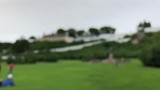 Non-focused view of park in front of Fort Mackinac on Mackinac Island, Michigan, USA - 218510373