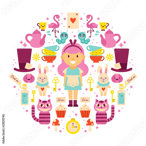 Alice in Wonderland greeting card design