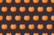 Halloween holiday background with glitter pumpkin decor