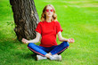 Leinwanddruck Bild - yoga for pregnant women