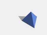 Regular polyhedron with four faces. Tetrahedron - 218554731