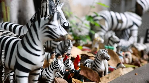 Zebra statue use as a offering.