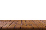 Empty wooden table top on isolated white, Template mock up for display of product. - 218574521