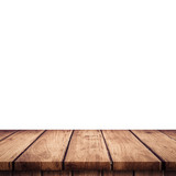Empty wooden table top on isolated white, Template mock up for display of product. - 218574529