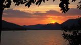 Iseo, Brescia, Italy. Amazing warm sunset at Iseo lake - 218577390