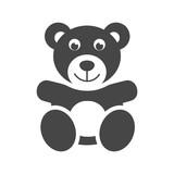 Cute smiling teddy bear icon or logo