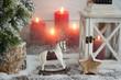Leinwanddruck Bild - Christmas Decoration Ornaments/Candles