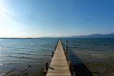 Pier at lake Chiemsee in the summer time