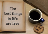 The best things in life are free - 218607770